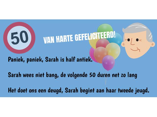Sarah spandoek 50